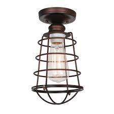 amazon com design house 519694 ajax 1 light ceiling light bronze