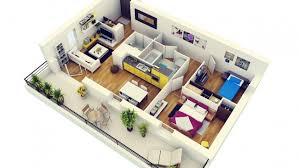 appartement 2 chambres 50 plans 3d d appartement avec 2 chambres architecture