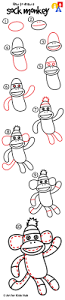 how to draw a monkey art for kids hub monkey drawings and