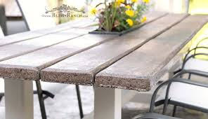 Cement Patio Table Bliss Ranch Farmhouse Cement Plank Patio Table Part 2