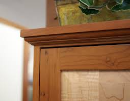 Make Raised Panel Cabinet Doors by Timeless Molding Top On This Cabinet A Curly Maple Raised Panel