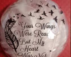 personalized remembrance ornaments memorial ornament a feather from an angel memorial
