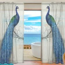 Peacock Curtains 2017 Sheer Tulle Curtains For Bedroom Rideaux Peacock Window