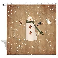 Discount Christmas Shower Curtains Snowman Shower Curtain Sets U2022 Comfy Christmas