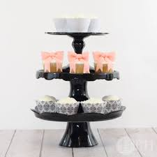 black cake pedestal collection image 2