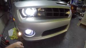 Camaro Fog Lights 2010 Chevrolet Camaro Ss Drl Harness And Led Bulb Install Youtube