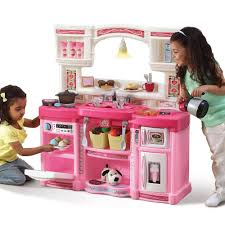 Kids Plastic Play Kitchen by Amazon Com Rise And Shine Kitchen Pink Toys U0026 Games
