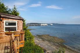 roadless cliffside tiny cabin on vashon lists for 349k curbed