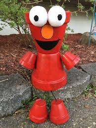 Elmo Christmas Outdoor Decorations by Elmo Planter Pot Person Pot People Sesame By Gardenfriendsnj Diy