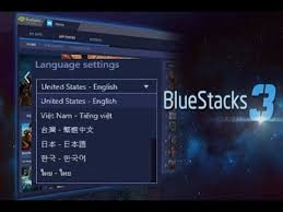 bluestacks settings how to change language in bluestacks 3 bs3 youtube