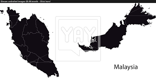 map malaysia vector black malaysia map vector yayimages