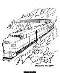 coloring graceful trains coloring train print