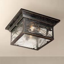 Outdoor Flush Mount Lighting Fixtures Garden 5 1 2 High Indoor Outdoor Flushmount Light