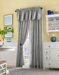 Ticking Stripe Curtains Country Stripe Cotton Casual Curtain Panel Curtainworks