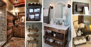 rustic bathroom design ideas 31 best rustic bathroom design and decor ideas for 2018