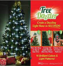 64 light star shower tree dazzler christmas tree light show by