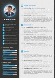 Resume Indesign Template Slade Professional Quality Cv Resume Template By Sladedesign