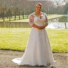 sleeve lace plus size wedding dress discount plus size wedding dress 2017 open back garden