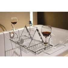 bathtub rack tray and caddy bathroom wine glass racks with reading