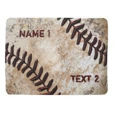 personalized baseball baby blanket baby u0027s name zazzle com