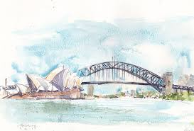the coat hanger sydney harbour bridge urban sketchers