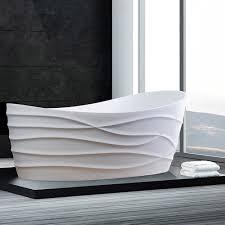 Freestanding Bath Tub Modern Dune Dimensional Freestanding Bathtub Zuri Furniture