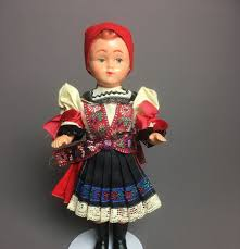 vintage czechoslovakia ethnic plastic souvenir czech