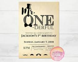 1st birthday invite etsy