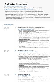 Senior Net Developer Resume Sample Senior Software Engineer Resume Samples Visualcv Resume Samples