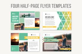 fliers templates four half page flyer templates templates creative market