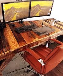 construire un bureau en bois meuble bureau industriel et bureau mural diy en 63 idées