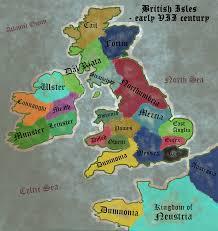 British Isles Map Early Vii Century British Isles Map Image Hoar Mod Db