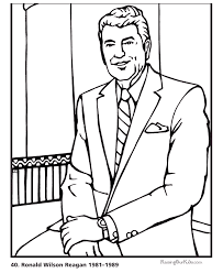 presidents day printable coloring pages for presidents day president ronald reagan coloring pages bio