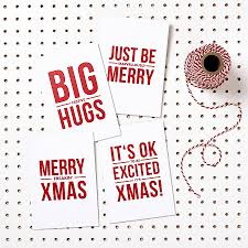 pack of four funny christmas cards by doodlelove