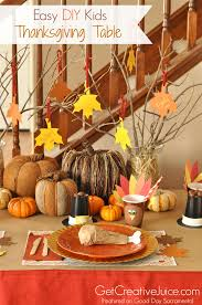 Table Centerpieces For Thanksgiving 4 Easy Kids Thanksgiving Table Craft Tutorials Creative Juice