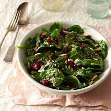 thanksgiving salad cranberry sesame spinach salad recipe taste of home