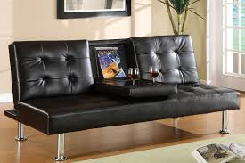 Leather Futon Sofa Orinda Multifunctional Futon Sofa