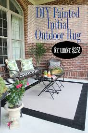 Outdoor Rugs Only Easy Diy Initial Outdoor Rug Front Porch Freshen Up Less Than