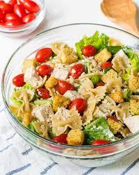 pasta salad chicken caesar pasta salad well plated by erin