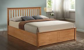 Pentre Wooden Ottoman Bed Oak