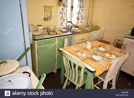1950s style farmhouse kitchen stock photo royalty free image