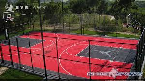 reasons to install a backyard basketball court synlawn pictures on