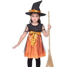 aliexpress com buy children girls pumpkin witch cotume little