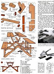 Diy Collapsible Picnic Table by Folding Picnic Table Plans U2022 Woodarchivist