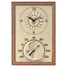 Patio Clocks Outdoor Thermometer Outdoor Clocks Target