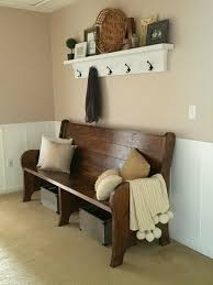 Church Pew Style Bench Live A Little Wilder Diy Church Pew And Shelf Inspiration From