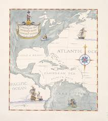 Map Caribbean Sea by The Caribbean Sea And Spanish Main And Adjacent Waters William