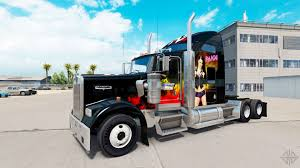 kenworth lkw skin wwe on the truck kenworth w900 for american truck simulator