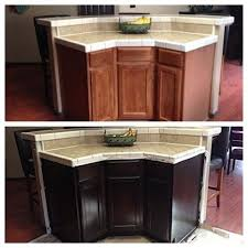 painting kitchen cabinets espresso before and after gel stained cabinets in espresso before and after