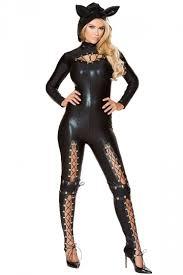cat costume womens bodysuit cat costume black pink